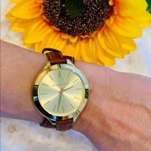 Michael Kors Gold/Tan Watch